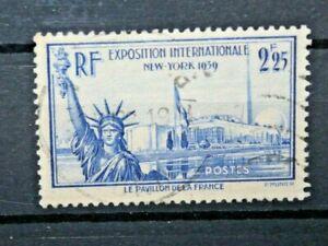 FRANCIA-1939-034-ESPOSIZIONE-MONDIALE-NEW-YORK-034-TIMBRATO-USED-CAT-A