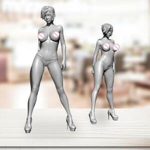 1-24-Resin-Figure-Model-Kits-Beautiful-Girl-Resin-Soldier-Unassambled-Unpainted