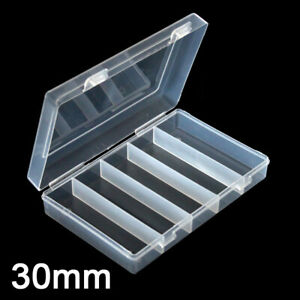 100Pcs-30mm-Clear-Plastic-Round-Case-Coins-Storage-Capsules-Holder-Round-Box-US