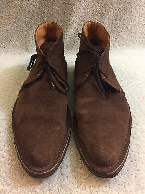 "MOMA brown suede Made In Italy Boots Men's Size Eu 43 Us 10 13"" By 4.5"" 