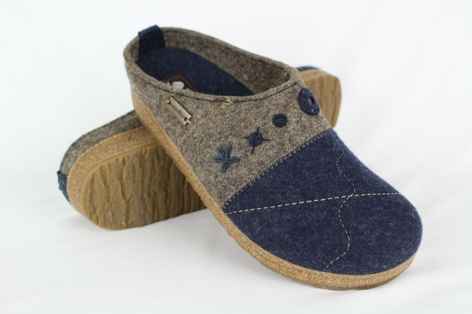 New Haflinger Women's GZ Tristan bluee-Eart Mule Size 40 9 or 41 10