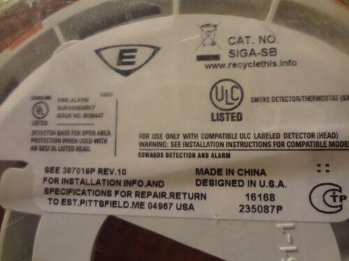 200 available BRAND NEW Edwards EST SIGA-SB SIGA SB Standard Detector Base