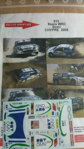 DECALS 1//43 REF 0933 CITROEN XSARA WRC STOHL RALLYE CHYPRE 2005 CYPRUS RALLY