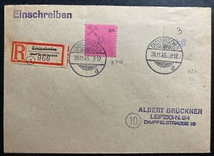 1945 GROSSRASCHEN Germany Cover Post WW2 Local Stamps Issue To Leipzig