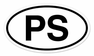 "PS Park Slope Oval car window bumper sticker decal 5"" x 3"""