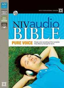 NIV-Complete-Audio-Bible-64-CD-Set-Pure-Voice-Narrated-by-George-W-Sarris-NEW