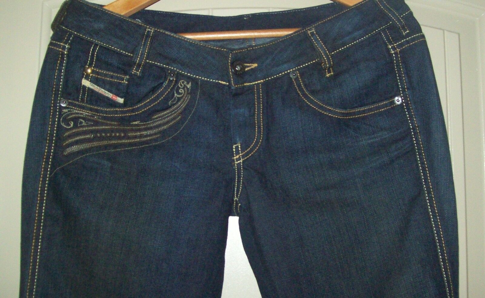 Diesel  Jeans Pants  Ryoth Boot Cut Made In -WASH OO8AB SIZE W-28- L-30 NEW