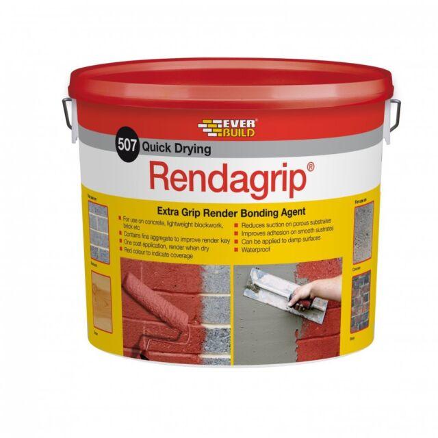 EVERBUILD 507 QUICK DRYING RENDAGRIP 10 LITRE KEY FOR RENDER EXTRA GRIP