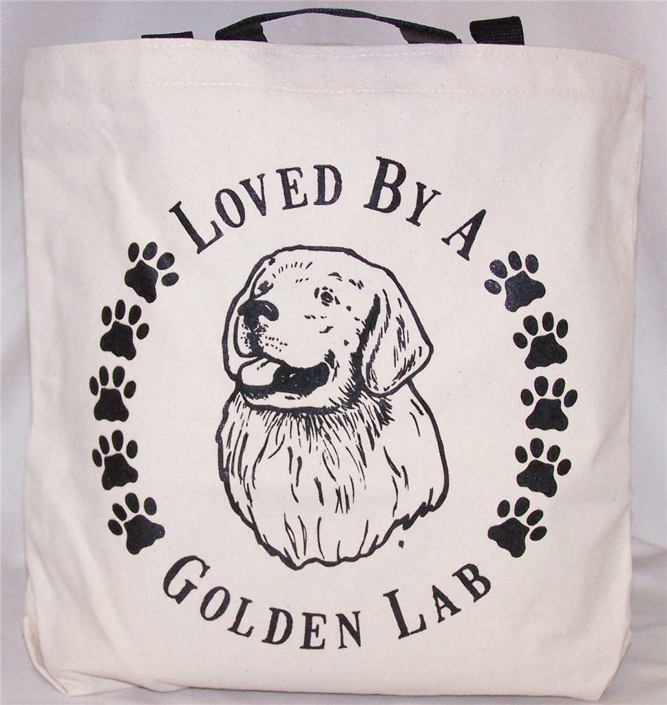 Golden Lab Tote Bags New  MADE IN USA Lot of 10