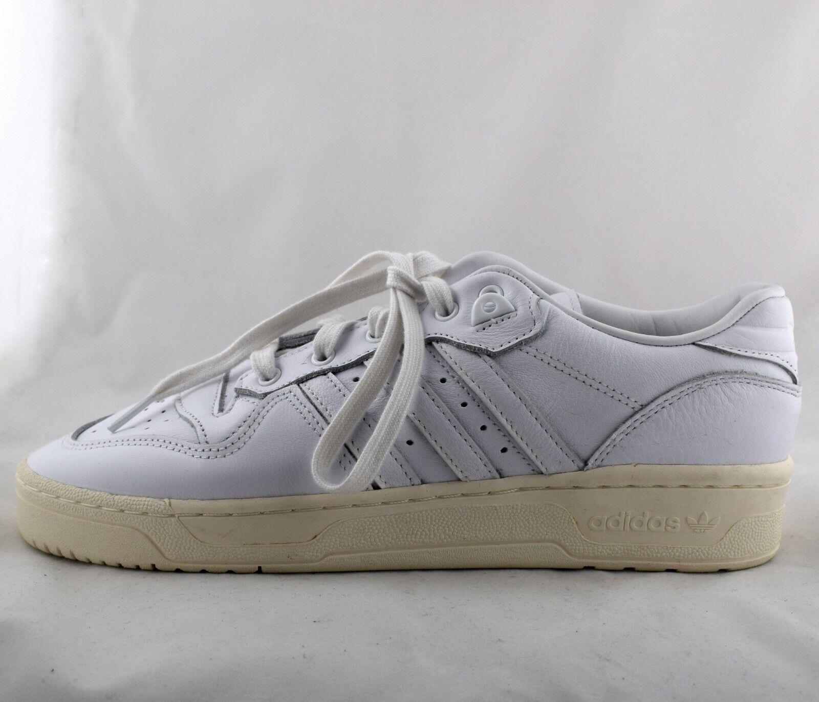 Brandneu Adidas Rivalry Niedrig Herren Schuhe in Wolke Weiss UK Größe 8.5