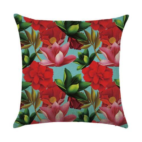 18/'/' Vintage Flower Pillowcases Living Room Throw Cushion Cases Cushion Cover