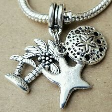 Summer Beach Vacation Palm Tree Sea Starfish Ocean Sandollar European Bead Charm