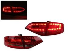 *DEPO Euro Spec RS4 Look LED Red/Clear Tail Light 09-12 Audi A4 B8 4D Sedan New