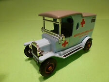 MATCHBOX YESTERYEAR T FORD 1912 - AMBULANCE FIELD SERVICE - RARE SELTEN - GOOD