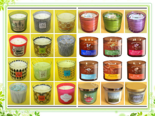 BATH AND BODY WORKS White Barn 3-WICK CANDLE 14.5 OZ with LID u pick scent NEW