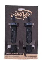 BRAVE 'HUCKER' HANDLEBAR GRIPS LOCK-ON 22.2mm SINGLE BLACK LOCK RING 65% OFF
