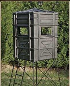 Hughes HP-67000 Hunting Ground 4x4 The Enforcer Box Blind w Window Kit FULL DOOR