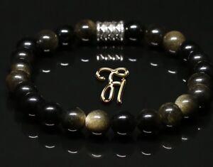 Obsidian-Armband-Bracelet-Perlenarmband-schwarz-8mm