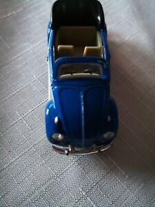 VW-Beetle-Cabriolet-BLU-Hongwell-1-72-modello-di-auto-mattoncini-modello-di-vetrina