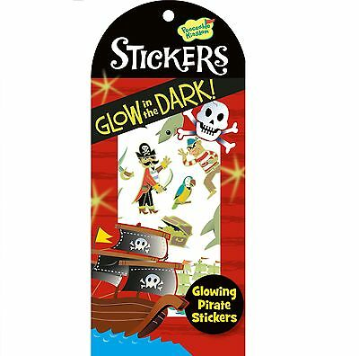 Glow in the Dark Pirate Stickers Reward Party Favor Scrap Booking Acid Free