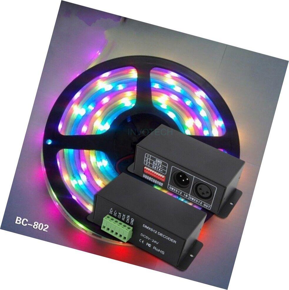 Led SK6812 WS2811 WS2812B TM1812 UCS1903 RGB Pixel DMX decoder controller 5 24V