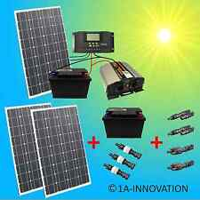 Komplett 220V Solaranlage + Akku 200Ah 300W Solarpanel 1000W Camping Watt Garten