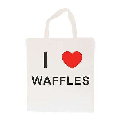 I Love Waffles - Cotton Bag   Size choice Tote, Shopper or Sling