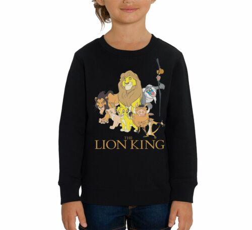 The Lion King Group Photo Children/'s Unisex Black Sweatshirt