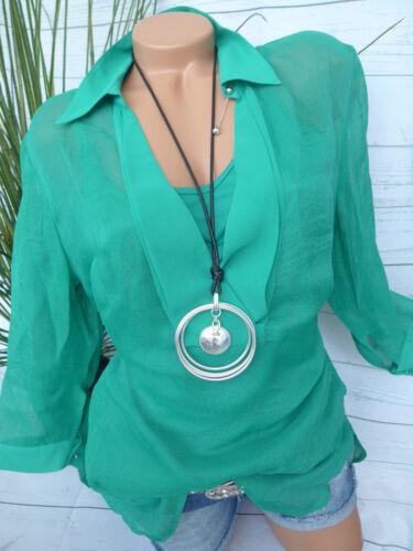 Lagen Look 2 in 1 Effekt NEU Patrizia Dini Heine Bluse Shirt Gr 403 36-46