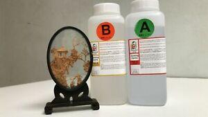 2kg Epoxy Resin Crystal Low Viscosity Penny Art River Table UV Resist BG8