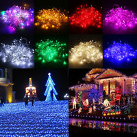 8Multi-Action 100/200 LED Christmas Party Wedding Tree Flash Fairy String Lights