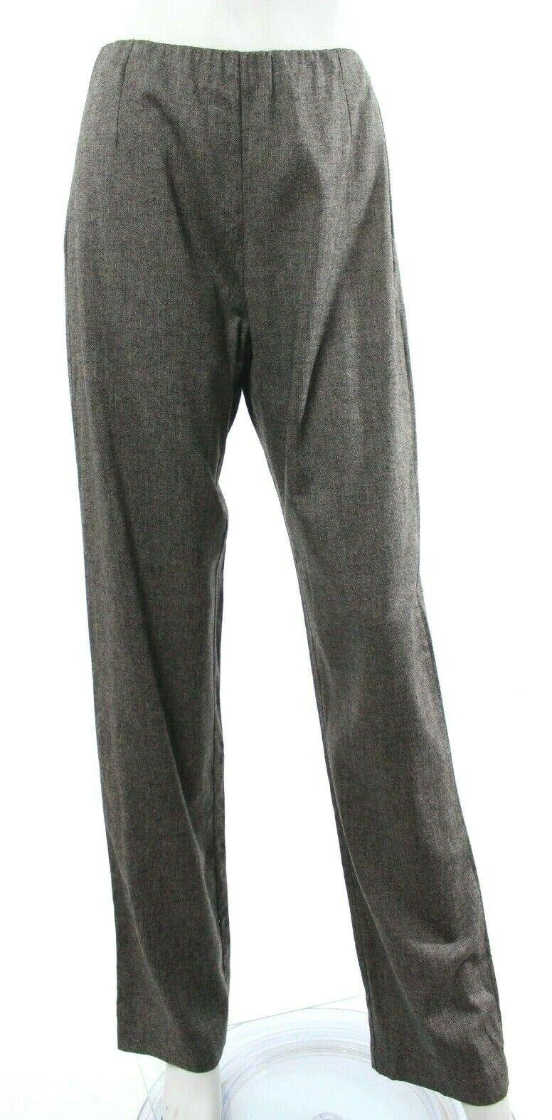 Crea Concept Women's 38 US 6 Brown EZ Pants Straight Wool Lagenlook NEW NWT