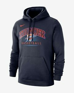 new product af128 33303 Details about Nike NBA Oklahoma City Thunder Hoodie New Mens College Navy  Sports BV0947-419