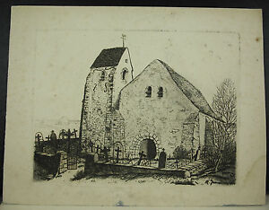 R-Jeannisson-Cemetery-of-Mouchamps-Engraving-Eau-Forte-1936