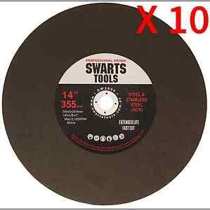 10pc-350MM-355MM-14-034-METAL-CUT-OFF-CHOP-OFF-DROP-SAW-BLADES-CUTTING-DISCS-WHEEL
