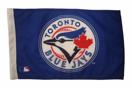 """TORONTO BLUE JAYS BASEBALL 12/"""" X 18/"""" INCHES CAR STICK FLAG BANNER WITHOUT POLE"""
