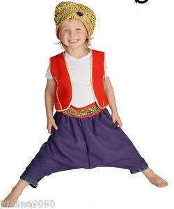 Image is loading CHILDS-CHILDRENS-BOYS-BOOK-DAY-GENIE-ALADDIN-ARABIAN-  sc 1 st  eBay & CHILDS CHILDRENS BOYS BOOK DAY GENIE ALADDIN ARABIAN PRINCE FANCY ...