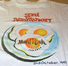 "Hard Rock Cafe JAKARTA 1995 3rd Anniversary Tee T-SHIRT Medium 19.5"" x 18"" New!"