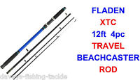 Fladen Xtc 12ft 4pc Travel Beachcaster Rod Sea Surf Distance Fishing Cod Bass