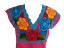Floral-Mexican-Blouse-Embroidered-Made-in-Mexico-Handmade-Cotton-Pink thumbnail 5