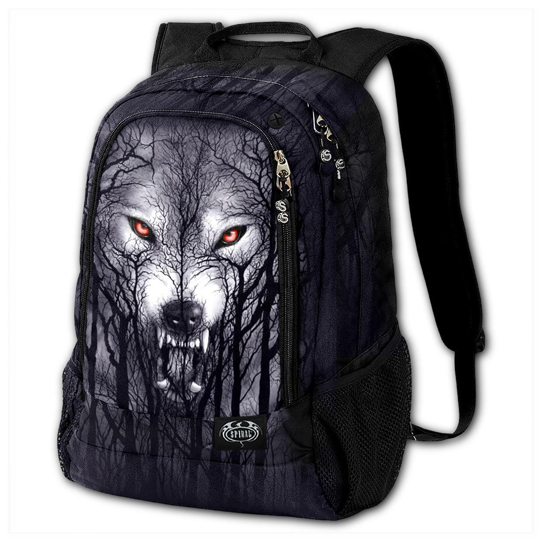 SPIRAL DIRECT FOREST Wolf BACK WITH LAPTOP POCKET BAG/Unisex/Wolf/Rock