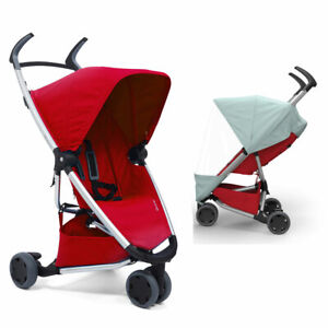 Brand New Quinny ZAPP Xpress Pushchair & Raincover in All Red RRP£220