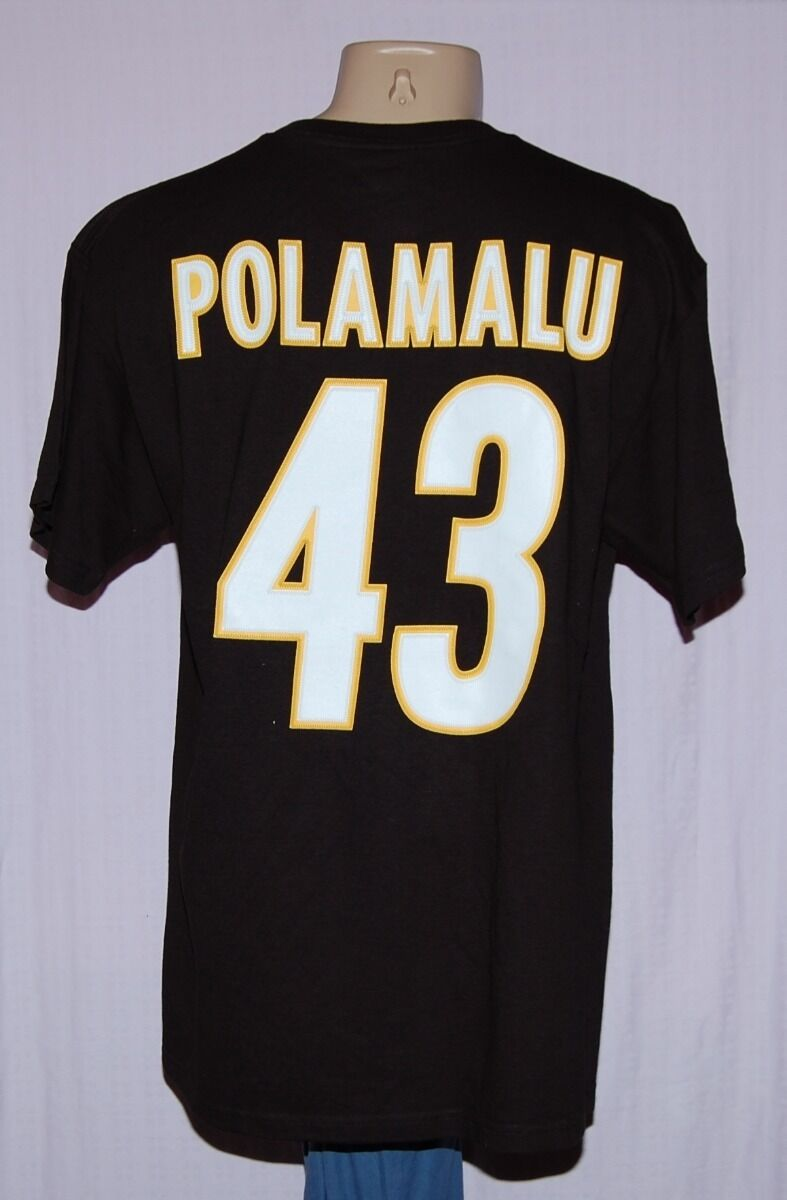 buy popular 89c87 d6722 Pittsburgh Steelers Troy Polamalu #43 Jersey T-Shirt S