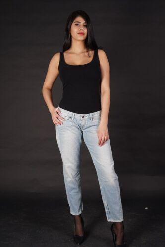 NUOVO * PEPE Jeans Charlie Donna Pantaloni Boyfriend comfort regolare waist Tapered LEG