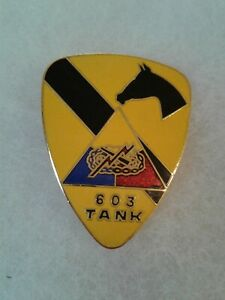 Authentic-US-Army-1st-Cavalry-603rd-Tank-Regiment-Insignia-DUI-DI-Crest