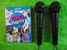 wii U SING PARTY Game + 2 OFFICIAL Nintendo Mics Microphones PAL UK Version