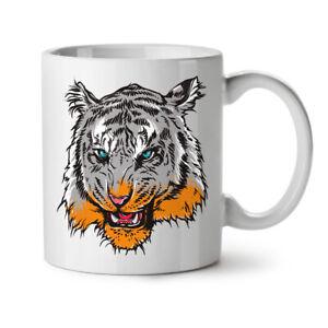 Tiger Head Eye Animal NEW White Tea Coffee Mug 11 oz   Wellcoda