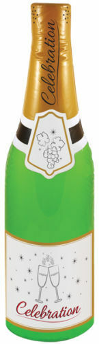 INFLATABLE BLOW UP CELEBRATION CHAMPAGNE BOTTLE HEN STAG PARTY SWIMMING POOL UK