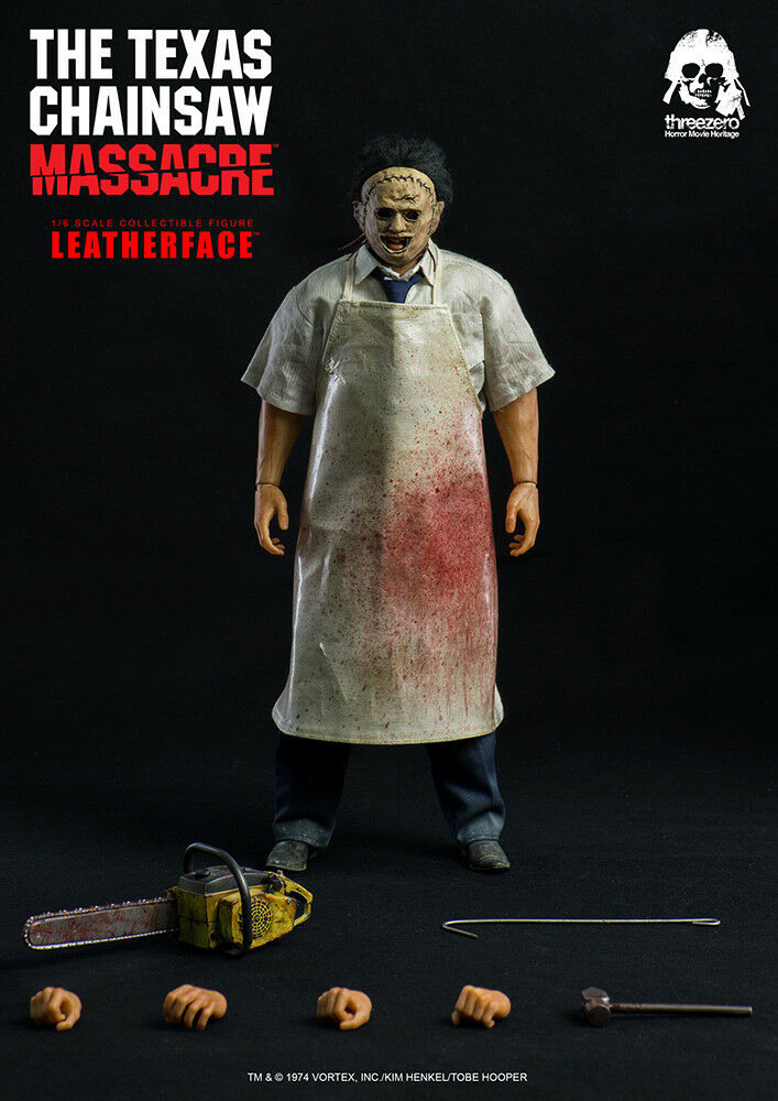 TEXAS CHAINSAW MASSACRE  LEATHERFACE 1 6 Action Figure 12″ THREEZERO