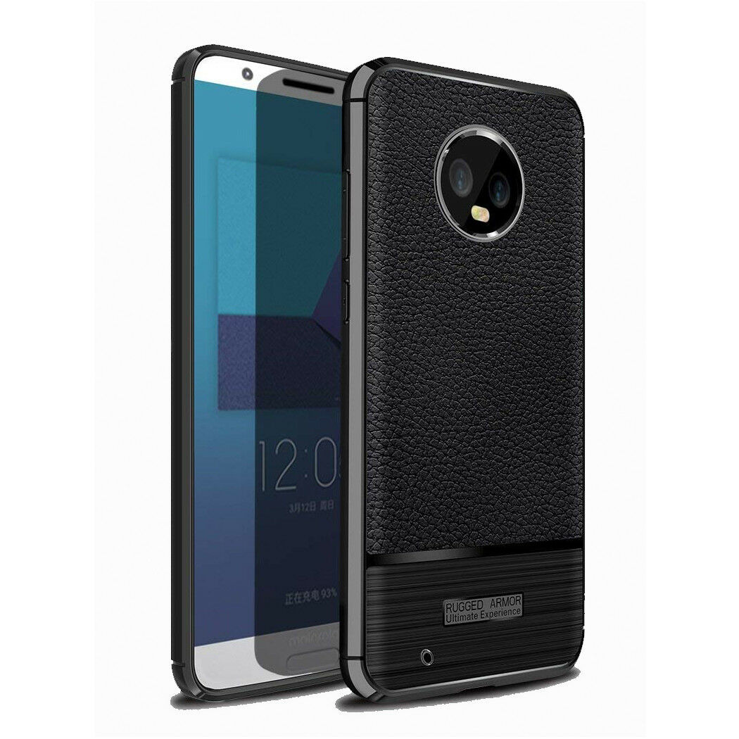 new product 21a60 e25aa Luxury Ultra Slim Leather Skin TPU Bumper Case Cover For Motorola Moto G6
